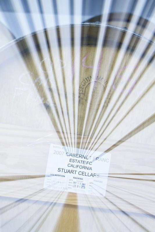 Stuart Cellars Cabernet Franc barrel