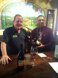 Buzz Olson and Letoyant Metoyor show off their new Letoyant Creole Syrah