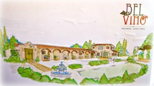 Artist rendering of newly remodeled Bel Vino Tasting Room in Temecula, CA