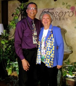 Letoyant Creole and Mother visit Tesoro Winery Tasting Room in Old Town Temecula, CA