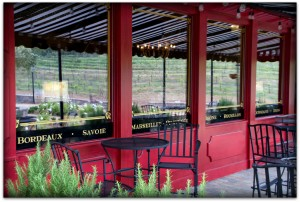 Enjoy comfortable patio seating at Europa Village in Temecula, CA