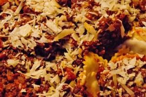WINEormous mushroom ravioli