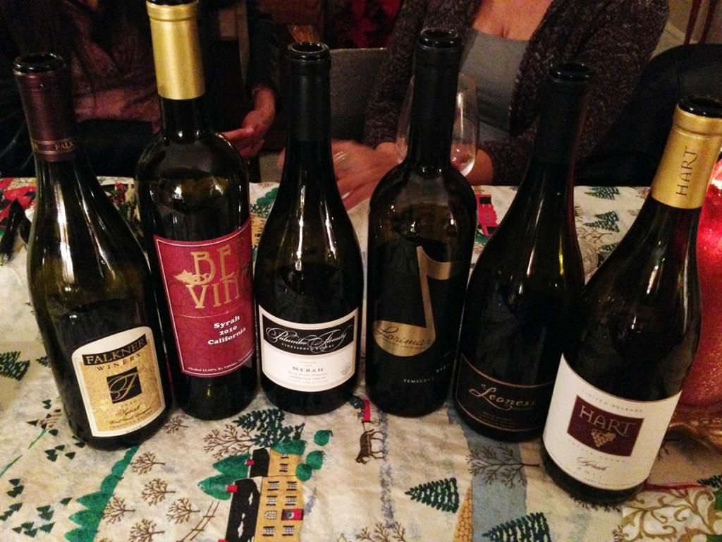 WINEormous blind Syrah tasting