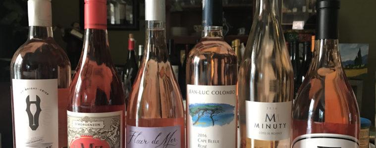 WINEormous rosé wine tasting
